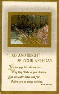 Greeting - Birthday.  Gold Foil.