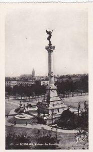 France Bordeaux Colonne des Girondins Real Photo