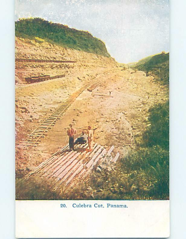 Unused Old Postcard CULEBRA CUT FOR CANAL IN EMPIRE Country Of Panama F5432