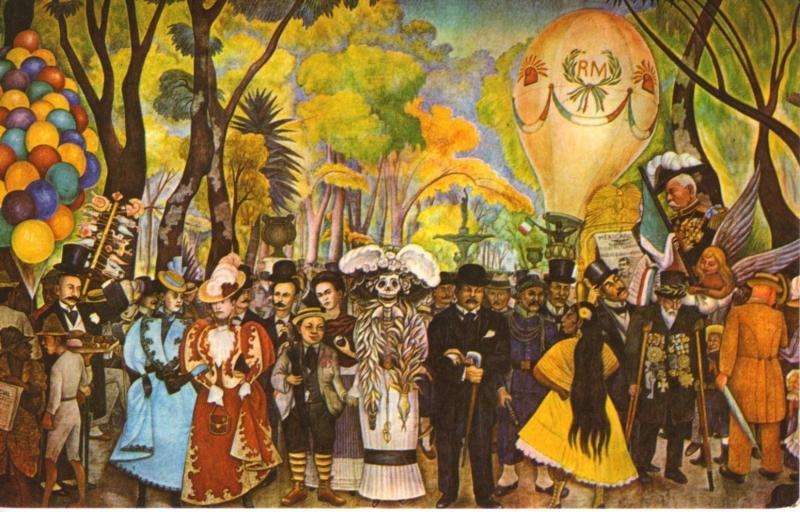 Mural de Diego Rivera At Government Palace Mexico City Mexico Postcard D21