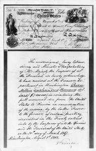 ALASKA TREASURY WARRANT TO PURCHASE ALASKA-1868 RPPC REAL PHOTO POSTCARD