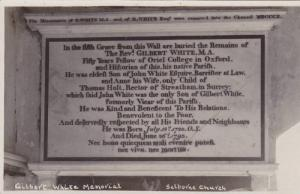 RP, The Monument Of G. White M.A. & Of B. White, Selborne Church, Hampshire, ...