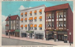 LINCOLN HIGHWAY: Gettysburg , Pennsylvania , 1910s ; Store Fronts