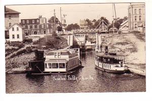Real Photo, boats at Fenelon Falls, Locks, Ontario AZO