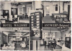 HOTEL WALDORF, ANTWERP, ANTWERPEN, Belgium, 1961 used Real Photo Postcard