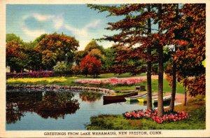 Connecticut New Preston Greetings From Lake Waramug 1941
