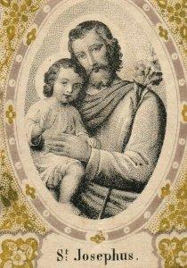 1870s-80s Religious German St. Josephus P222