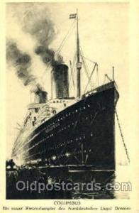 Norddeutschen Lloyd, Bremen Steamer Ship Ships Old Vintage Postcard Postcards...
