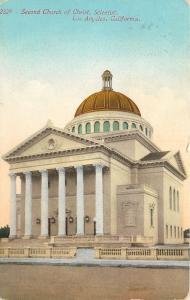 Los Angeles California~Second Church Of Christ Scientist~1910 Postcard