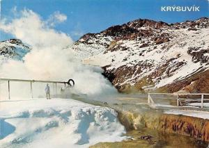 Iceland Thermal Area Krysuvik Steam may used for Producing Electricity