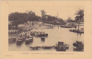 DAHOMEY ; 1925 ; Inodatiojns de COTONOU , le Centre Commercial