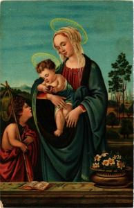 CPA STENGEL 29267 The Virgin and Child with the Infant St.John (744526)