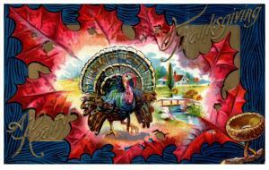 Thanksgiviing    Turkey   in Autumn Leaf