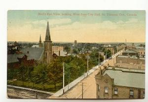 Birds Eye View, Downtown West from City Hall, St Thomas, Ontario,