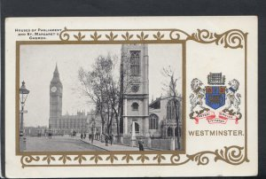 London Postcard -Houses of Parliament & St Margaret's Church,Westminster RS18913