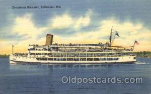 Excursion Steamer Steamer Ship Ships Postcard Postcards  Excursion Steamer