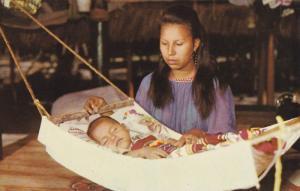 Rock-A-Bye Baby, Seminole Indian Style, Musa Isle, Miami, Florida, 1960-70s