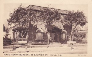 HULL, Province of Quebec, Canada, 1900-10s; Cafe Henry Burger - 69 Laurier St.