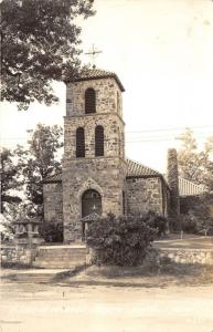 Irish Hills Michigan~St Joseph Catholic Church~Cobblestone Building~1945 RPPC