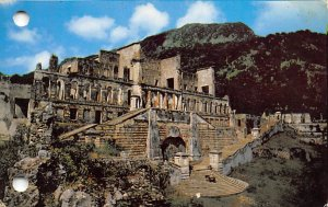 Sans-Souci Palace Milot Haiti Unused two punched holes in card