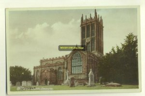cu0518 - St Mary's Church , Ilminster , Somerset - postcard