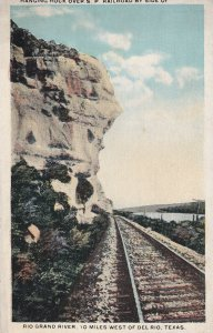 TEXAS, 1910-1930s; Hanging Rock Over S. P. Railroad By Side Of Rio Grand River