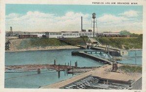 BRAINERD , Minnesota , 1910s ; Paper Co. Log Jam
