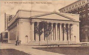 Connecticut New Haven U.S.Post Office And Court House Albertype