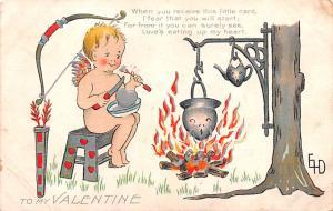 Valentines Day Post Card Old Vintage Antique Postcard Artist Dewees 1910