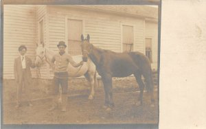 G10/ Occupational RPPC Postcard c1910 Horse Breeder Farm Show 3