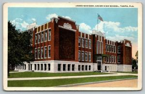 Tampa Florida~James Madison Junior High School~1920s Postcard