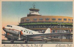 La Guardia Field , New York , 1930-40s ; American Airlines Airplane