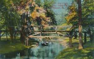 Paddling up Red Creek - Genesee Valley Park, Rochester, New York - pm 1913 - DB