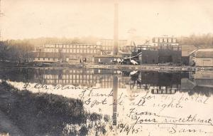 Ivoryton Connecticut~Piano Factory on Riverfront~Mamie From Sam~1905 RPPC