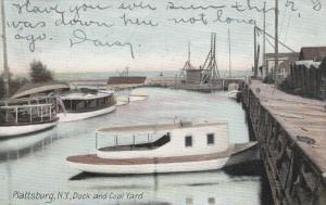 PLATTSBURG , New York , 1907 ; Dock & Coal Yard