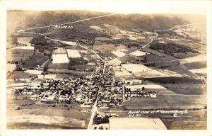 McConnellsburg Pennsylvania~Aerial View~Lincoln Highway-Rt 30 Bkgd~1940s RPPC