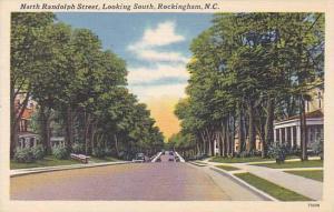 North Randolph Street, looking South, Rockingham, North Carolina, 30-40s