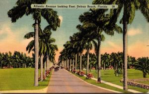 Florida Delray Beach Looking East 1950