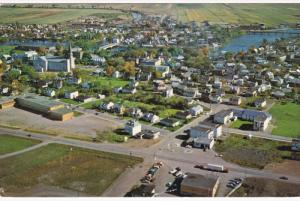 Aerial View of Montmagny, MONTMAGNY, Quebec, Canada, 40-60´s
