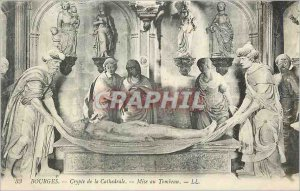 Old Postcard Bourges Cathedral Crypt Entombment