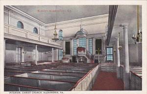 Interior Christ Church Alexandria Virginia