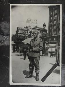 Mint WW2 RPPC Postcard Germany Luftwaffe Soldier on Street Brussels Belgium 1942