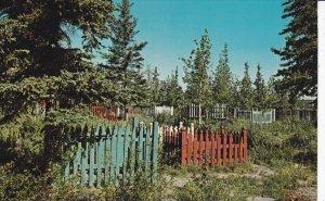 WHITE HOUSE, Yukon Territory, Canada; Native Indian Graveyard / Cemetery, 40-60s