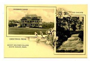 MA - South Hadley. Mt Holyoke College, Peterson Lodge, The Cascade