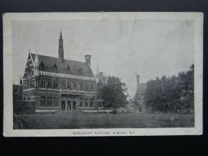 London MERCHANT TAYLOR'S SCHOOL (Charterhouse) Old Postcard