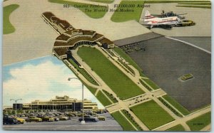 Pittsburgh, Pennsylvania Postcard Greater Pittsburgh $33M Airport Linen c1940s