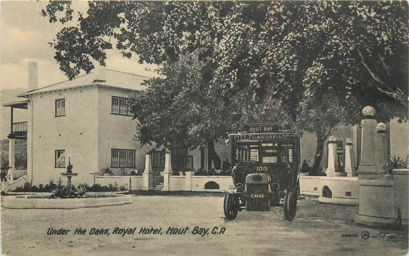 City Tramways Bus? Under The Oaks, Royal Hotel, Hout Bay C. A. Postcard