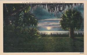 Florida Panama City Moonlight On St Andrews Bay