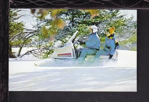 Snow Mobile Postcard