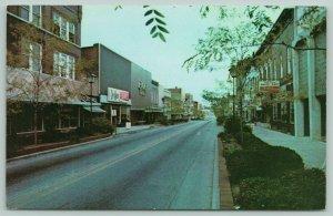 New Castle Indiana~Broad Street Mall~Downtown Shopping~Jo Ann Fabrics~1950s